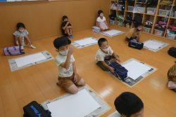 8月3日 絵画教室 絵具で色塗り